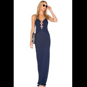 Acacia Brawa Maxi Dress in Ocean Sz M